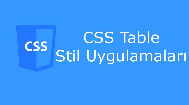 CSS table özellikleri