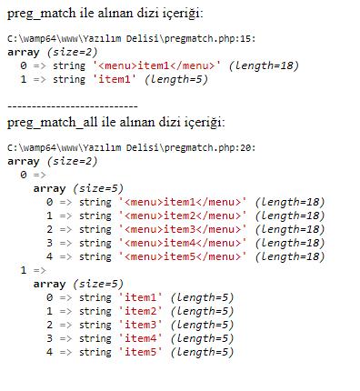 php preg match fonksiyonu