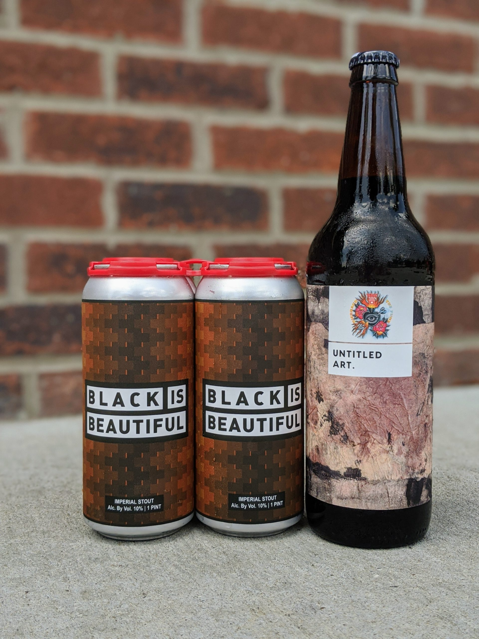 Black is Beautiful Imperial Stout (4pk) with Untitled Art/ETF Fudgesicle Bomber!