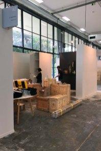 Galeria Ybakatu - Montagem do stand na SP Arte 2018 - Foto Tuca Nissel