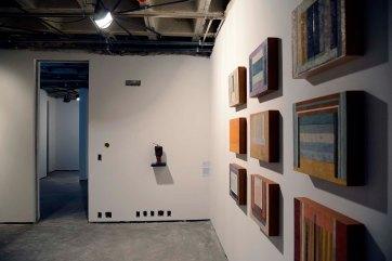 Marcus André - Série Halways, 2015 - Encaústica sobre madeira - 32 x 40 cm (cada) - Foto Gilson Camargo