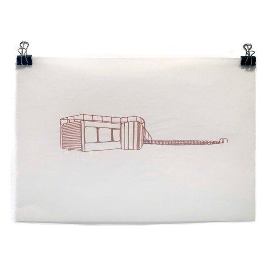 João Loureiro - Sem Título - Nanquim e ecoline sobre papel jornal - 21,0 x 29,7 cm