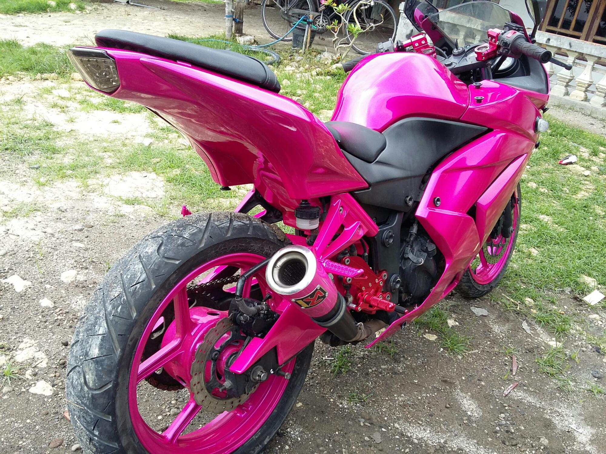 Motor Modifikasi Terkini Modifikasi Motor Vixion Warna Pink