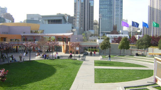 Photo of the Children's Garden at Yerba Buena Gardens