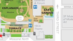 Map with East Plaza at Yerba Buena Gardens, San Francisco