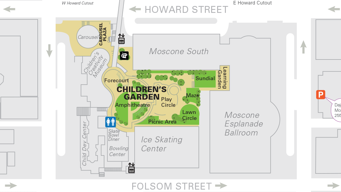 Map of Yerba Buena Gardens central block 3.