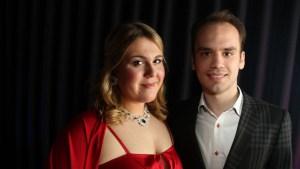 Photo of Jenny Lind Scholarship recipient Christina Nilsson and Thomas Rudberg