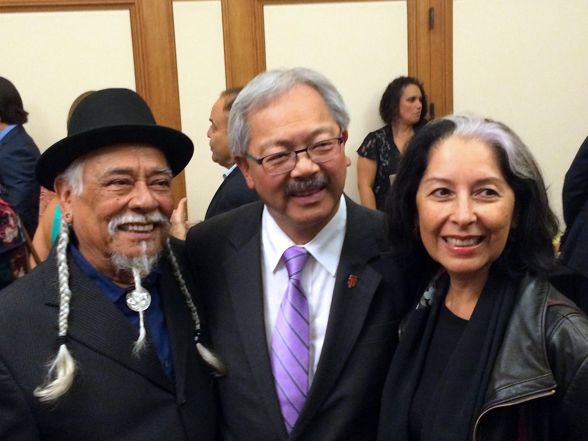 Dr. Loco, Mayor Ed Lee, and Linda Lucero
