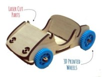Photo of a wood toy car