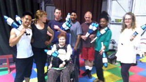 Photo of Circus Bella jugglers with Judy Finelli