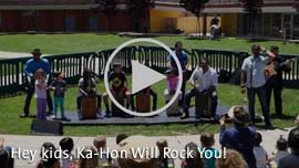 Video Link: Hey kids, Ka-Hon Wil Rock You!
