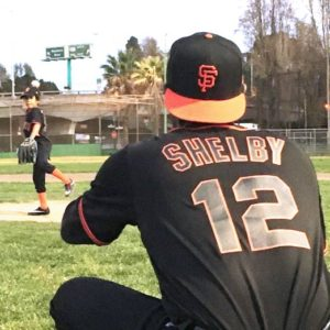 Photo of Marcus Shelby's baseball jersey