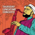 Illustration of man playing saxophone