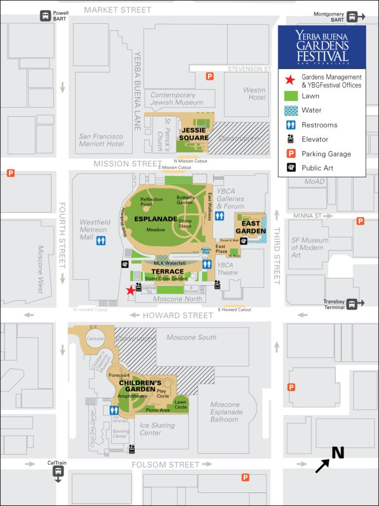 Yerba Buena Gardens Festival Vistor Map