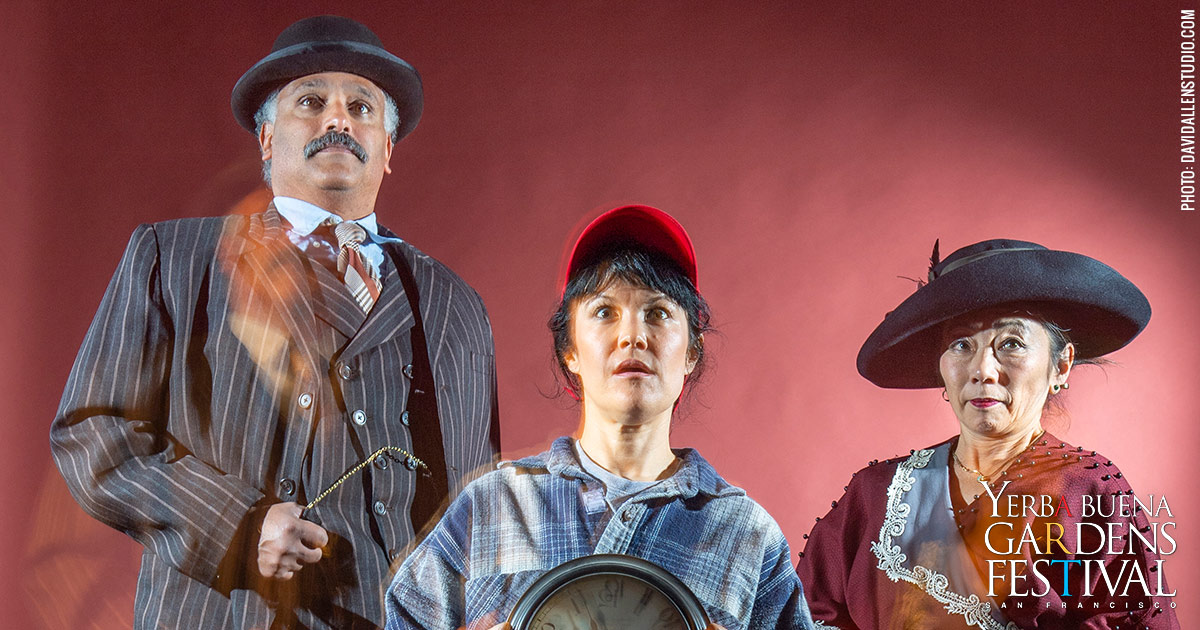 Press photo for San Francisco Mime Troupe's Seeing Red. Photo by DavidAllenStudio.com