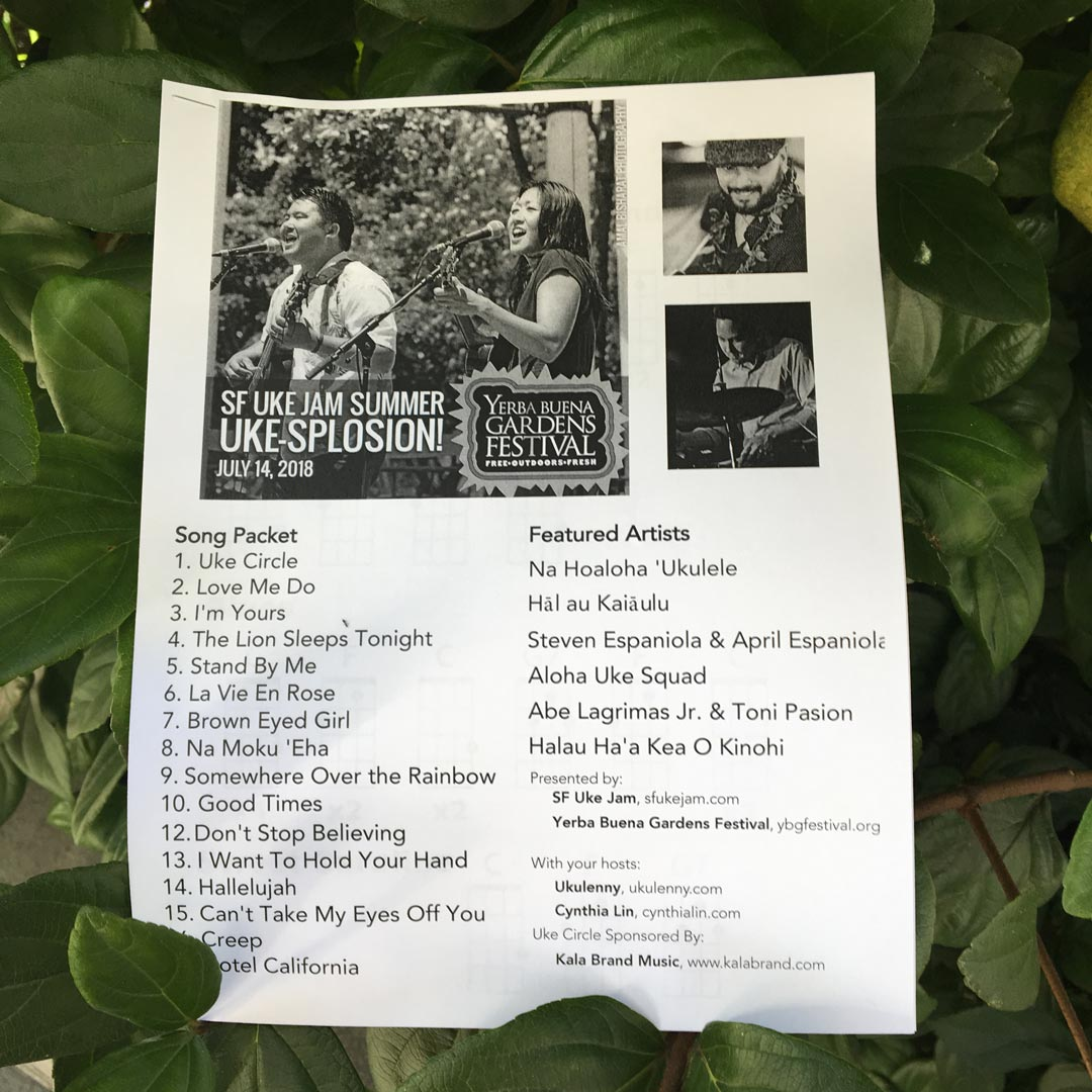 Photo of the 2018 Summer Uke-splosion! Chord Packet