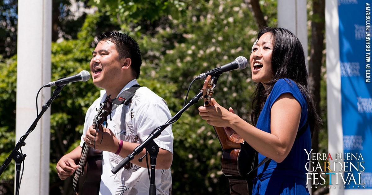 Photo of Ukulenny and Cynthia Lin of SF Uke Jam by Amal Bisharat Photography