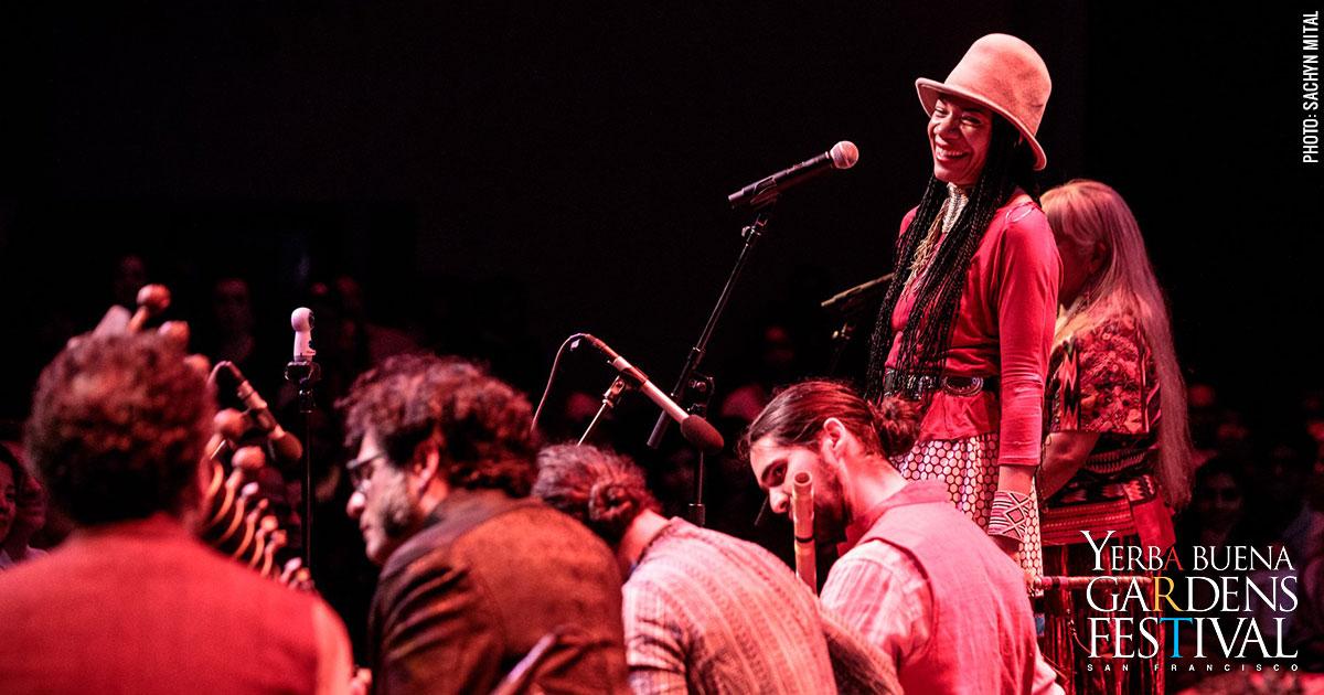 Photo of musicians Martha Redbone and Brooklyn Raga Massive, by Sachyn Mital