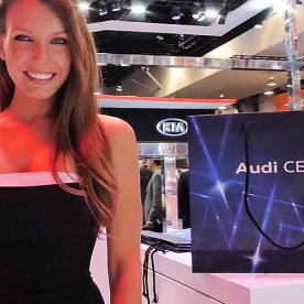 Audi AG Hot Booth Babe at CES 2016.