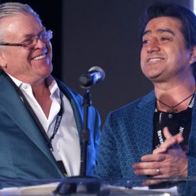 Comedians Ron White and Alex Reymundo. Getty Images for Nightclub & Bar.