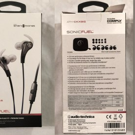 Audio Technica ATH-CKX9iS Earbuds, box Front & Back. Image Courtesy: Jack X, YBLTV Writer/Reviewer.