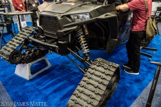 Las Vegas, NV - April 18, 2016: An all-terrain vehicle is displayed for use in video production at tha NAB Show. Photo by James Mattil, YBLTV Writer / Reviewer / Photographer.