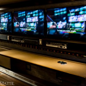 Las Vegas, NV - April 18, 2016: The inside of a mobile broadcast control room on display at NAB. Photo by James Mattil, YBLTV Writer / Reviewer / Photographer.