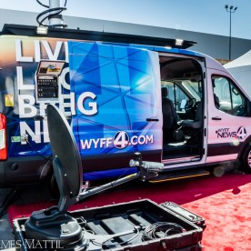 Las Vegas, NV - April 18, 2016: Mobile news van on display at the NAB Show. Photo by James Mattil, YBLTV Writer / Reviewer / Photographer.