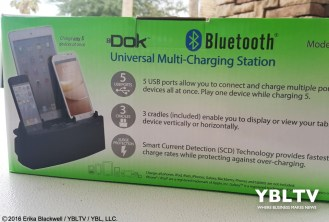 YBLTV Erika Blackwell Review: Dok Solution LLC.: CR33 5 Port Smart Phone Charger with Bluetooth Speaker and Speaker Phone: Gift Box.