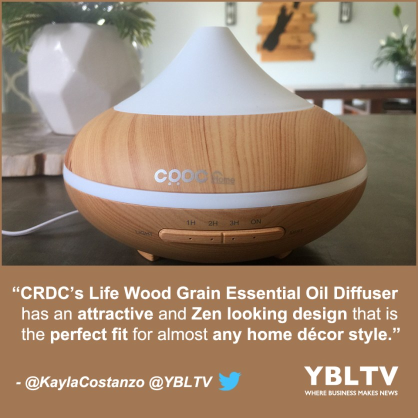 YBLTV Review by Kayla Costanzo: CRDC Life Wood Grain Essential Oil Diffuser