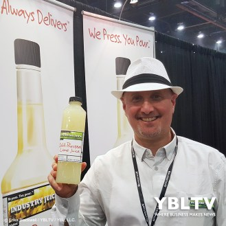 Industry Juice, Founder, Scott Holstein at the 2017 Nightclub & Bar Show, Las Vegas, NV.