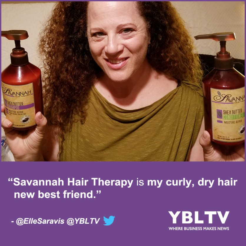 YBLTV Writer / Reviewer, Ellen Saravis reviews Savannah Hair Therapy Moisture Repair Shea Butter Treatment Shampoo and Conditioner.