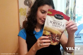 Mrs. Cubbison's Tri-Color Tortilla Strips. Review by YBLTV Writer / Reviewer, Sarah Kepins.