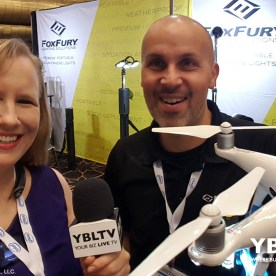 YBLTV Anchor, Erika Blackwell interviews FoxFury's Director of Marketing, Antonio Cugini at InterDrone 2017.
