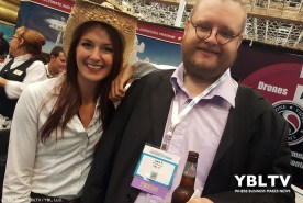 YBLTV Writer / Reviewer, Jack X with Stampede Booth Babe at InterDrone 2017.