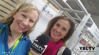 YBLTV Anchors, Erika Blackwell and Brandy Falconer at Bebop Sensors - CES 2018.