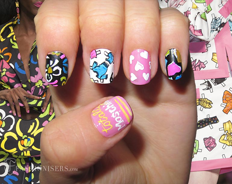 spring_2015_runway_inspired_nail_art_designs_Moschino_fashionisers