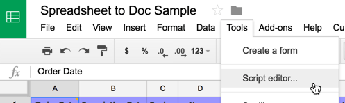 Exporting Row Data From Google Sheets to Google Docs· yc.sg