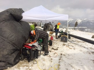 Mitigating the weather with tents and heaters