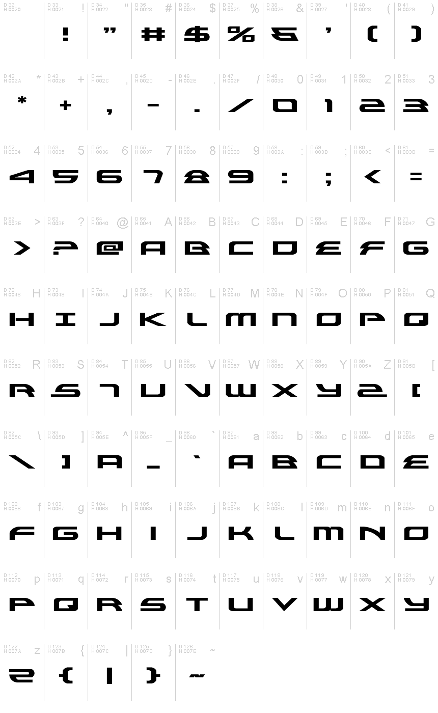 Download Alexis Expanded font