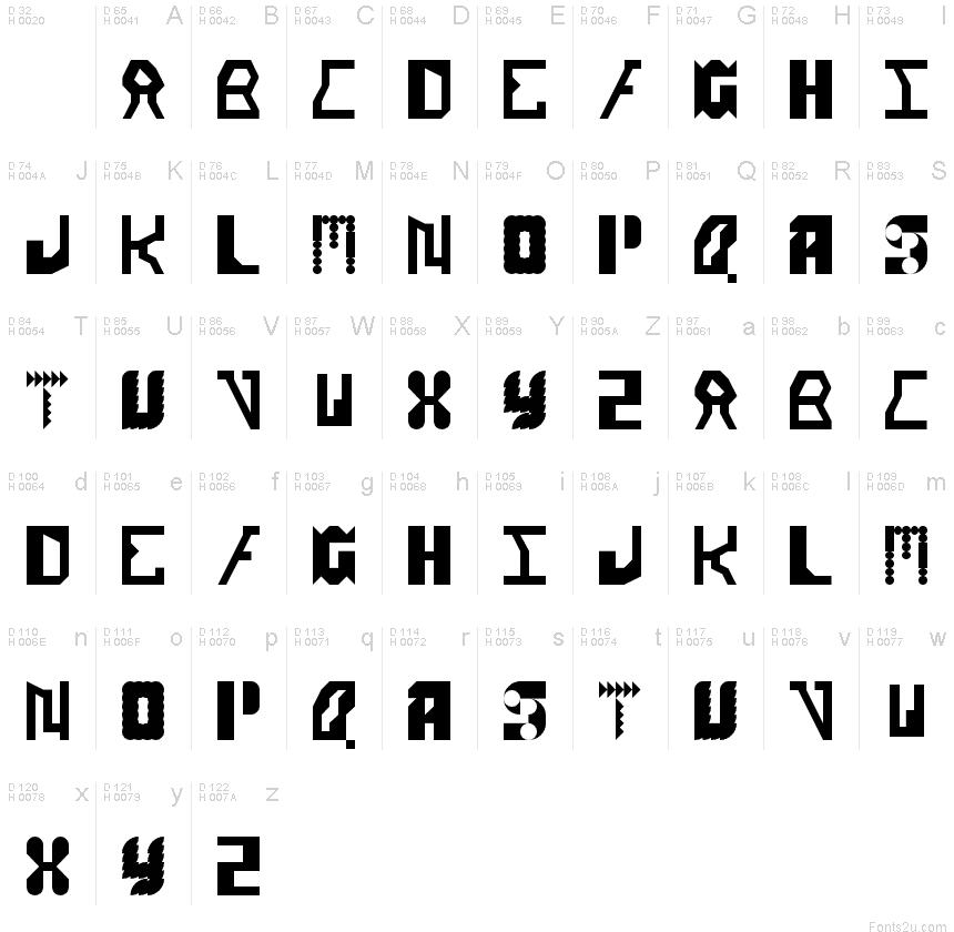 Alien Alphabet Regular font