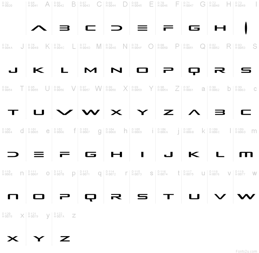 Alien Resurrection font