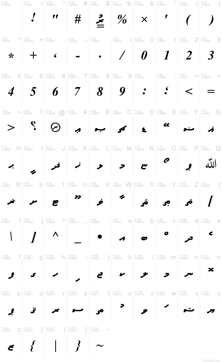A_Waheed font