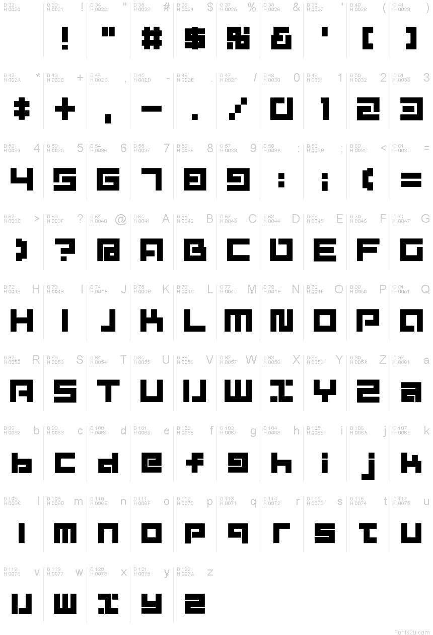 D3 Mouldism Alphabet font