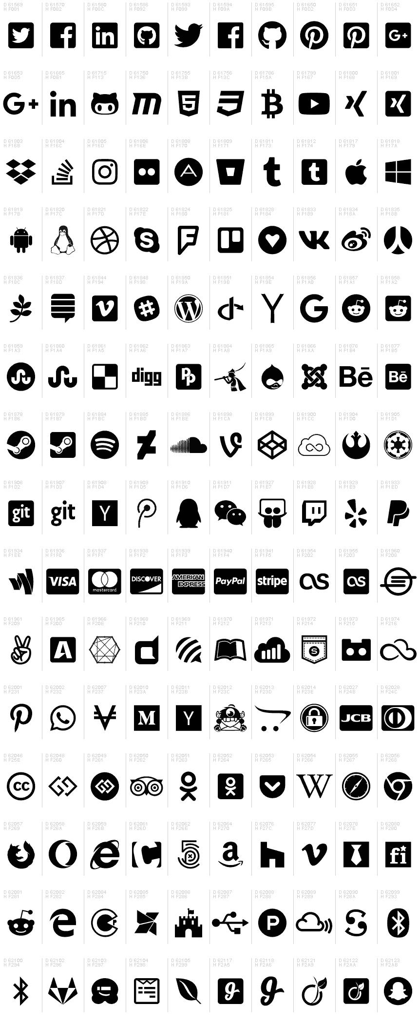 Font Awesome 5 Brands Regular font