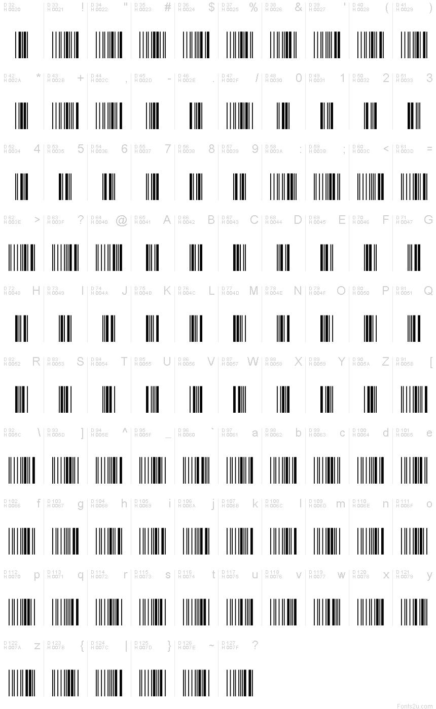 Free 3 of 9 Extended Regular font