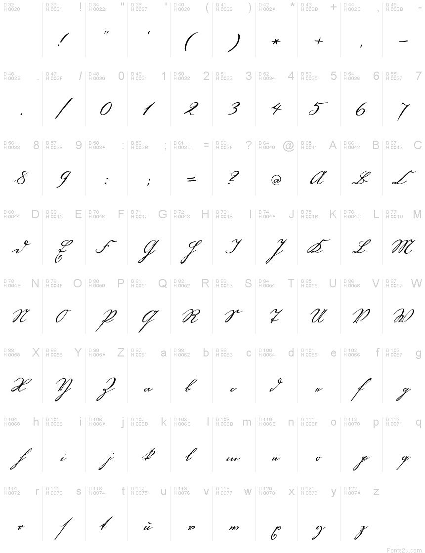 Handwriting1800 font