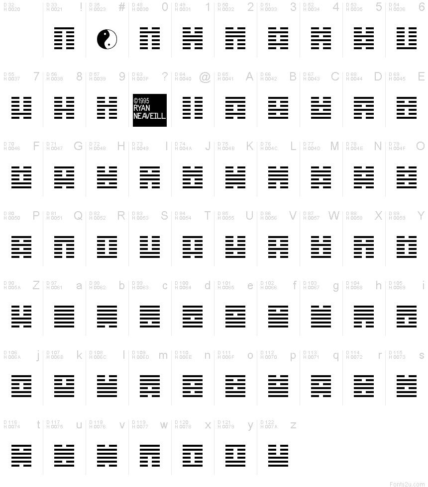 I Ching font