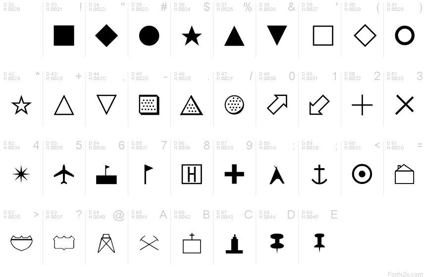 Map Symbols font