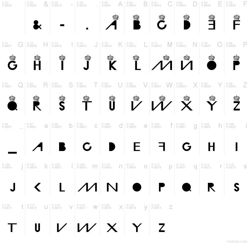 MD Crown font